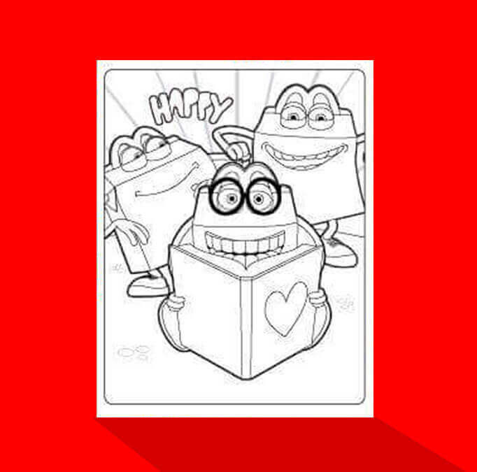 Happy Meal, book coloring