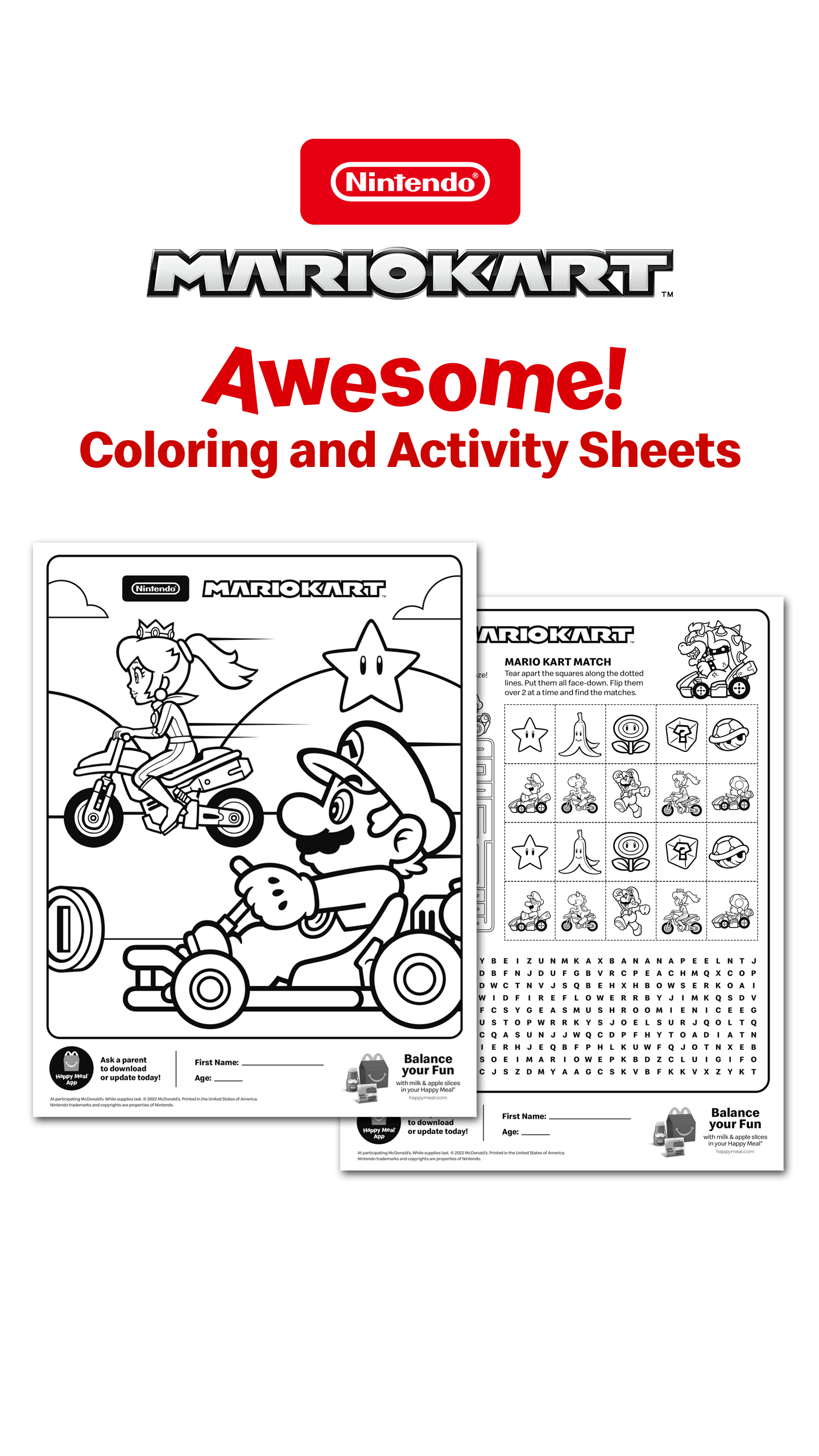 Coloring and Activity Sheets!